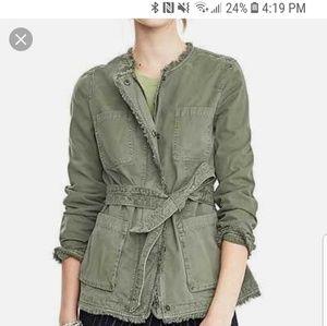 Green utility jacket from Banana Republic